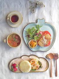 えびたまサンドの朝ごはん - 陶器通販・益子焼 雑貨手作り陶器のサイトショップ 木のねのブログ