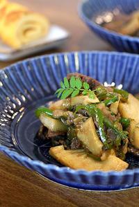 筍と牛の山椒焼きと山椒伊達巻 - KICHI,KITCHEN 2