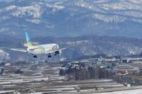 残雪~旭川空港~ - 自由な空と雲と気まぐれと ~from 旭川空港~