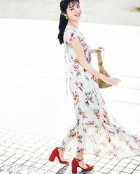 揺れて透ける素材感に華やかな花柄が舞う★♪スナイデルのワンピース♪#新川優愛#スナイデル - *Ray(レイ) 系ほなみのブログ*