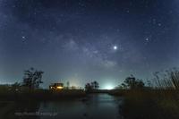 福島潟 春の銀河 - デジタルで見ていた風景