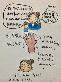 指の関節が痛い - 一天一画   Yuki Goto