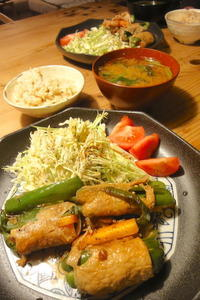 野菜の肉巻きソテー - 週末は晴れても、雨でも