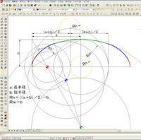近似楕円のコンパスによる描画 - m-sudo's Room