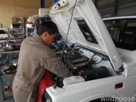 JA12ジムニー オイル漏れ修理中(⌒-⌒ )v - ★豊田市の車屋さん★ワイルドグース日記