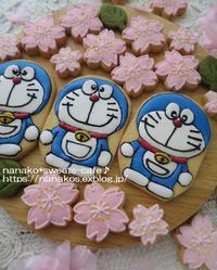 ドラえもんアイシングクッキー - nanako*sweets-cafe♪