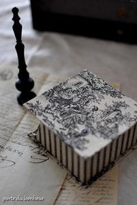 ブロックメモボックス - A partir d'une seule piece  カルトナージュで私だけの空間創り