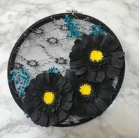 カレイドフレーム2ブラックガーベラ&お花見 - こねこねあれこれ