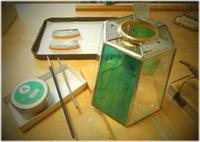 組みあがってきた~ - グラス工房 Grendora  -制作の足跡と日常-