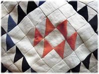 リネンやヘンプ、藍染め布の切れ端でキルト作りその2 - nazunaニッキ
