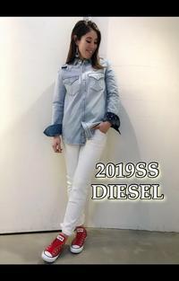 2019SS「DIESEL ディーゼル」新作デニムシャツのご紹介です。 - UNIQUE SECOND BLOG