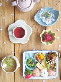 お花見気分の朝ごはん - 陶器通販・益子焼 雑貨手作り陶器のサイトショップ 木のねのブログ