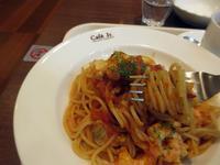 【イタリアントマトカフェJr.で魚介のトマトソースパスタ】 - お散歩アルバム・・毎日がキャベツ曜日