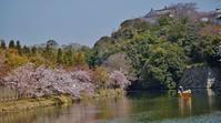 姫路城の内堀に浮かぶ和船と桜 - たんぶーらんの戯言
