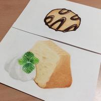 チョコクッキーとシフォンケーキ - アトリエ絵くぼの創作日誌