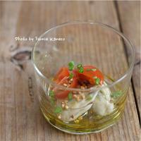 牡蠣のオイルマリネ そばの実とトマトのヴィネグレット添え - ふみえ食堂  - a table to be full of happiness -