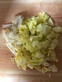 春キャベツとささ身のマスタードサラダ夫の料理−3 - 青山ぱせり日記
