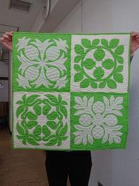 実りのキルト サンプラー KMさん作品 - ほっと一息・・~Sakura's Hawaiian QuiltⅡ