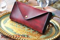イタリアンレザー・プエブロ・長財布2・時を刻む革小物 - 時を刻む革小物 Many CHOICE~ 使い手と共に生きるタンニン鞣しの革