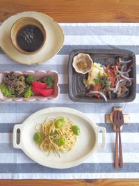 ペペロンチーノの朝ごはん - 陶器通販・益子焼 雑貨手作り陶器のサイトショップ 木のねのブログ