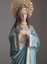 胸に手を当てる聖母マリア像  /F209 - Glicinia 古道具店