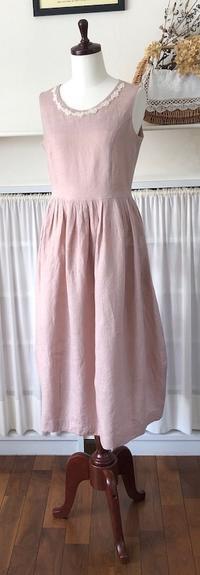 """ピンクのリネンでワンピース♪ - いつかリリアン・ギッシュのように…""""Mrs.GRACE""""のアトリエ便り"""