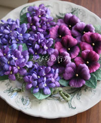 イベント準備でワサワサたくさん布花を咲かせています^^ - 布の花~花びらの行方 Ⅱ
