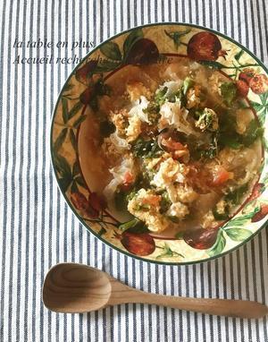 #自分をいたわるごはん  おはようスープ! - 大阪/フランス料理教室ラ・ターブル・アン・プリュス 料理家*尾関由美 本格料理を日常に~