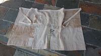 ダメージ繭袋から前掛け - 古布や麻の葉