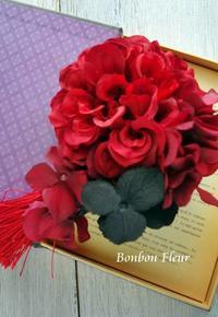 セミオーダーお祭用髪飾り - Bonbon Fleur ~ Jours heureux  コサージュ&和装髪飾りボンボン・フルール