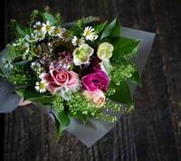 娘さんの幼稚園入園のお祝い花束。「ピンク多め」。水車町2にお届け。2019/04/11。 - 札幌 花屋 meLL flowers