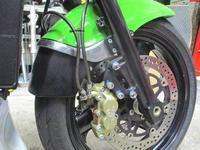 M上クン号 GPZ900RニンジャのFブレーキホース交換・・・(^^♪ - フロントロウのGPZ900Rニンジャ旋回性向上計画!