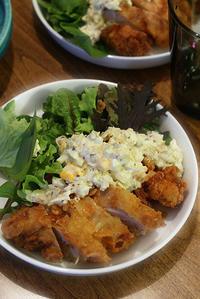 チキン南蛮と揚げナス、煮豆 - KICHI,KITCHEN 2