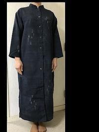 結城紬でライトコート生徒の作品 - アトリエ A.Y. 洋裁教室