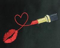 口紅の刺繍帯(^^) - ソライロ刺繍