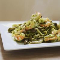 今日のお昼ご飯〜エビのバジルパスタ〜 - 料理教室 あきさんち