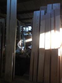 食器棚の荒削り2 - 手作り家具工房の記録