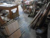 食器棚(カップボード)の背板接ぎ合わせ1 - 手作り家具工房の記録