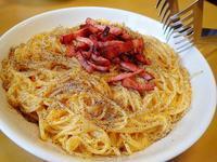 昼は Spaghetti alla carbonara - ぶん屋の抽斗