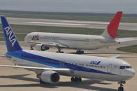最後の二社共演 - まずは広島空港より宜しくです。