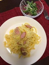 スパゲティカルボナーラ - 庶民のショボい食卓