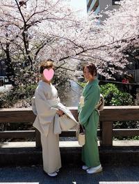着物桜デイト2 - eri-quilt日記3