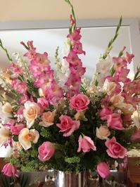 ピンク色の花達とコーディネート - ダイアリー