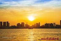 豊洲市場からの東京の夕景 - 風景写真家 鐘ヶ江道彦のフォトブログ