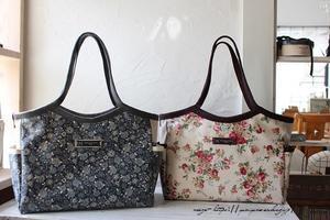 大人バッグ『ローズ柄のラミネートグラニー』お仕事バッグ&マザーズバッグに♪ - neige+ 手作りのある暮らし