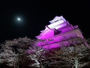 女一人旅、荒城の月 鶴ヶ城の夜桜を見に行ってきました。 - おひとり様のslow life
