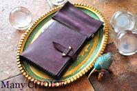 イタリアンレザー・プエブロ・ロディアメモ帳カバーと2本差しペンケース・時を刻む革小物 - 時を刻む革小物 Many CHOICE~ 使い手と共に生きるタンニン鞣しの革