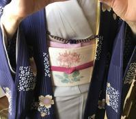 たまには季節に合った柄桜の羽織 - 着物きそびれ