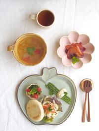 サーモンマリネサンドの朝ごはん - 陶器通販・益子焼 雑貨手作り陶器のサイトショップ 木のねのブログ