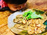 岩魚のムニエル 玉ねぎと椎茸のバター醤油 - 山谷彷徨